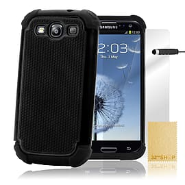 Samsung Galaxy S3 Dual-layer shockproof case - Black Mobile phones
