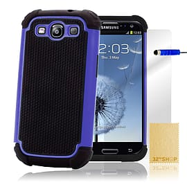 Samsung Galaxy S3 Dual-layer shockproof case - Blue Mobile phones
