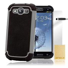 Samsung Galaxy S3 Dual-layer shockproof case - Grey Mobile phones