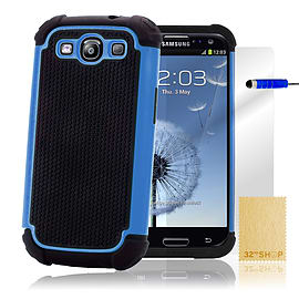 Samsung Galaxy S3 Dual-layer shockproof case - Light Blue Mobile phones