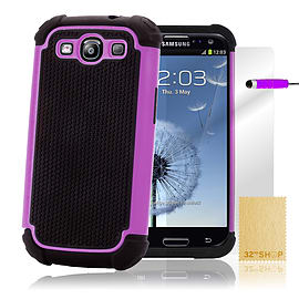 Samsung Galaxy S3 Dual-layer shockproof case - Purple Mobile phones