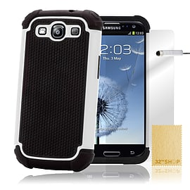 Samsung Galaxy S3 Dual-layer shockproof case - White Mobile phones