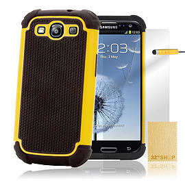 Samsung Galaxy S3 Dual-layer shockproof case - Yellow Mobile phones