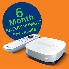 NOW TV Box + 6 month Entertainment Pass TV and Home Cinema
