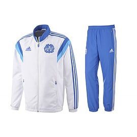 2014-15 Marseille Adidas Presentation Tracksuit (White) - Small 36-38 Chest Sports Football