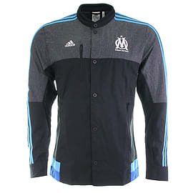 2014-2015 Marseille Adidas Anthem Jacket (Black) - Small 36-38 Chest Sports Football