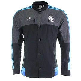 2014-2015 Marseille Adidas Anthem Jacket (Black) - XXXL 48-50 Chest Sports Football