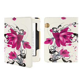 Amazon Kindle Voyage E-Reader PU leather design book - Purple Rose Tablet