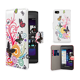 Blackberry Z10 PU leather design book case - Colour Butterfly Mobile phones