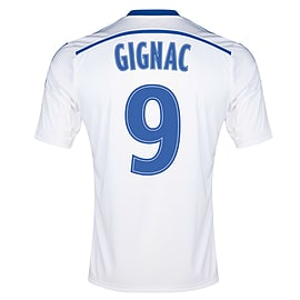 2014-15 Marseille Home Shirt (Gignac 9) - Kids - Medium Boys 28-30 - 76cm - 9/10 Years Sports Football