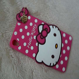 DIA HOT PINK HELLO KITTY DOTS SILICONE PHONE CASE COVER FOR SONY XPERIA Z3 (F12) Mobile phones