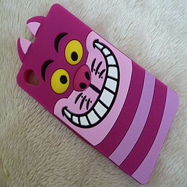 DIA CHESHIRE CAT FACE SILICONE CASE COVER FOR SONY XPERIA Z3 (T3 PURPLE) Mobile phones