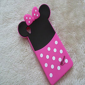 DIA MINNIE MOUSE BACK SILICONE CASE COVER FOR SONY XPERIA Z3 (I5 HOT PINK) Mobile phones