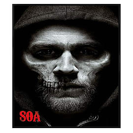 Sons of Anarchy Gloss Black Framed Jax Skull SoA Maxi Poster 61x91.5cm Posters