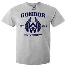 Men's Gondor University T-Shirt (Light Grey) Medium Clothing