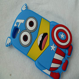 DIA MINION CAPTAIN AMERICA SILICONE CASE COVER FOR IPHONE 6 4.7 (A7 LIGHT BLUE) Mobile phones