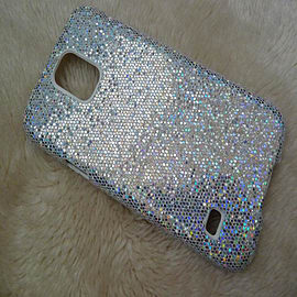 DIA SILVER GLITTER BLING SPARKLY HARD CASE COVER FOR SAMSUNG GALAXY S5 (H11 SILVER) Mobile phones