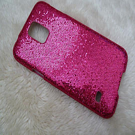 DIA HOT PINK GLITTER BLING SPARKLY HARD CASE COVER FOR SAMSUNG GALAXY S5 (D7 HOT PINK) Mobile phones