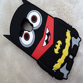 DIA MINION BATMAN SILICONE CASE COVER FOR SAMSUNG GALAXY S3 MINI (B13 BLACK) Mobile phones
