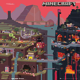 Minecraft World Mini Poster Posters