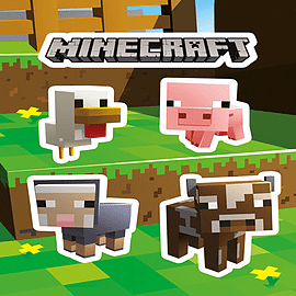 Minecraft Animals Sticker Pack Posters
