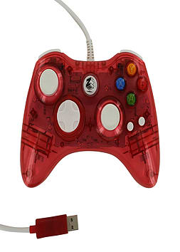 Zedlabz compatible 1.8M wired LED colour glow USB controller for Microsoft Xbox 360 - Red XBOX360