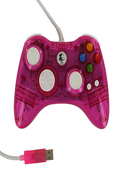 Zedlabz compatible 1.8M wired LED colour glow USB controller for Microsoft Xbox 360 - Pink XBOX360