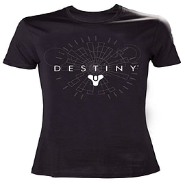Destiny White Logo T-Shirt - Size Medium Clothing