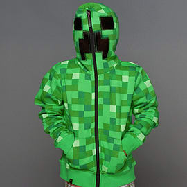 Minecraft Creeper Premium Zip-up Youth Hoodie Size - Small Clothing