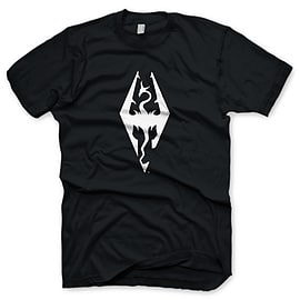 The Elder Scrolls V Skyrim Dragon Symbol T-Shirt - Size XX-Large Clothing