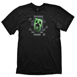 Minecraft Creeper Inside Youth T-Shirt - Size Large Clothing