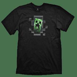 Minecraft Creeper Inside Youth T-Shirt - Size X-Large Clothing
