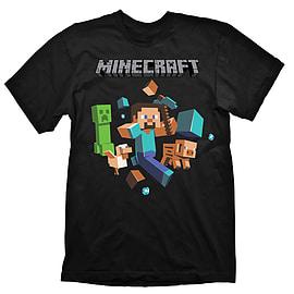 Minecraft Run Away Youth T-Shirt - Size Medium Clothing