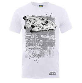 Millenium Falcon T-Shirt Extra Large Clothing