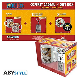 ONE PIECE Pack Mug + Keychain + Badges Home - Tableware
