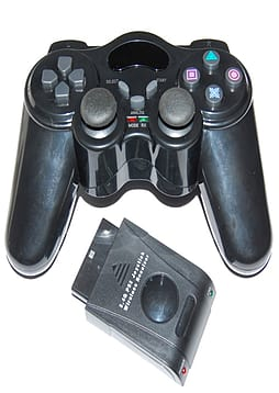 ZedLabz Wireless RF Vibration Game Controller Gamepad For Playstation 2 PS2 PS1 Double Shock PS2