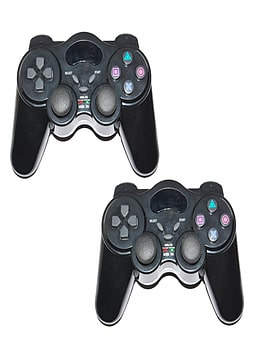 2 x ZedLabz Wireless RF Vibration Game Controller Gamepad For Playstation 2 PS2 PS1 Double Shock PS2