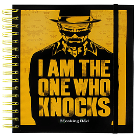 Breaking Bad I Am The One Who Knocks Black Notebook Stationary