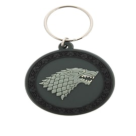 Game of Thrones Stark Sigil Rubber Keychain Keyrings