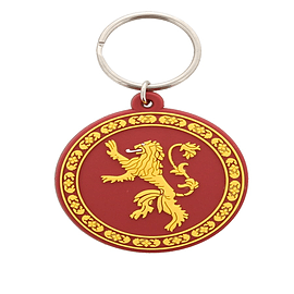 Game of Thrones Lannister Sigil Rubber Keychain Keyrings