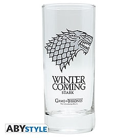 Game of Thrones 290 ml House of Stark 'Winter is Coming' Glass Mug Home - Tableware