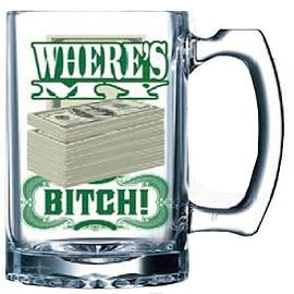 Just Funky Llc Breaking Bad Where'S My Money Bitch Beer Mug Home - Tableware