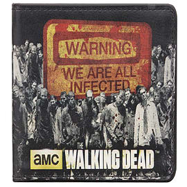 The Walking Dead Warning We Are All Infected Black Wallet Clothing