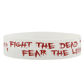 The Walking Dead Fight The Dead, Fear The Living White Wristband Clothing