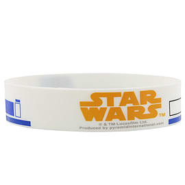 Star Wars R2D2 White Wristband Clothing
