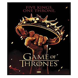 Game of Thrones Gloss Black Framed Five Kings One Throne Maxi Poster 61x91.5cm Posters