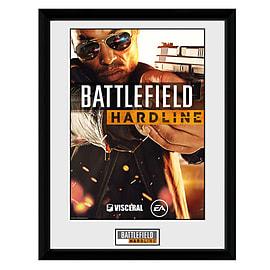 Battlefield Hardline Framed Print Cover Art Posters