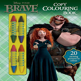 Disney's Brave Copy Colouring Book With Crayons (Disney Pixar Brave Film Tie in) (Paperback) Books