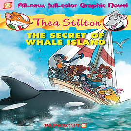 Thea Stilton #1: The Secret of Whale Island (Thea Stilton Graphic Novels) (Hardcover) Books