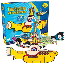 The Beatles Yellow Submarine Shaped Jigsaw Puzzle Traditional Games